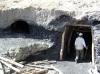 Ústí štoly na ložisku uhlí Sabzak