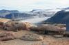 Jurské pískovce na ostrově Milne Land