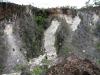 Odkryv kaolinu ve stěně bývalé dobývky bauxitu (Topira)